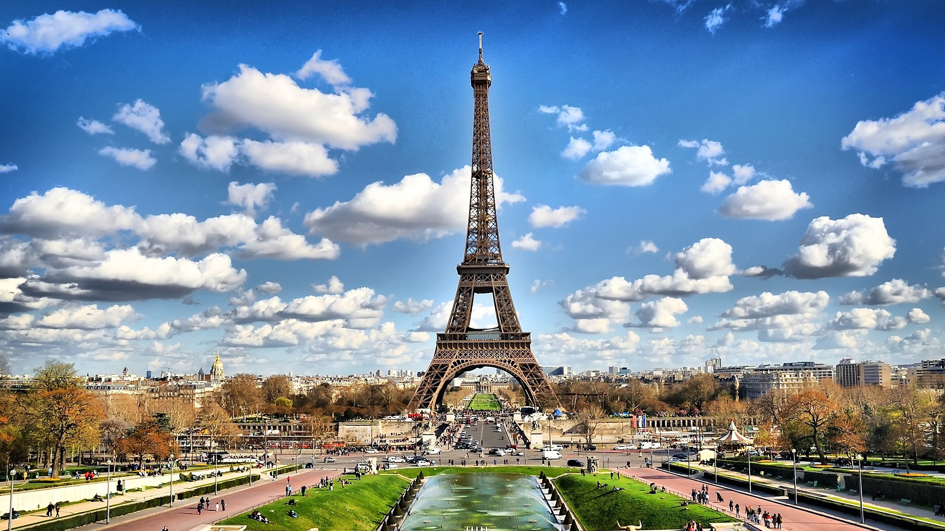 природа страны архитектура Марсово поле Париж Франция  № 824120 загрузить