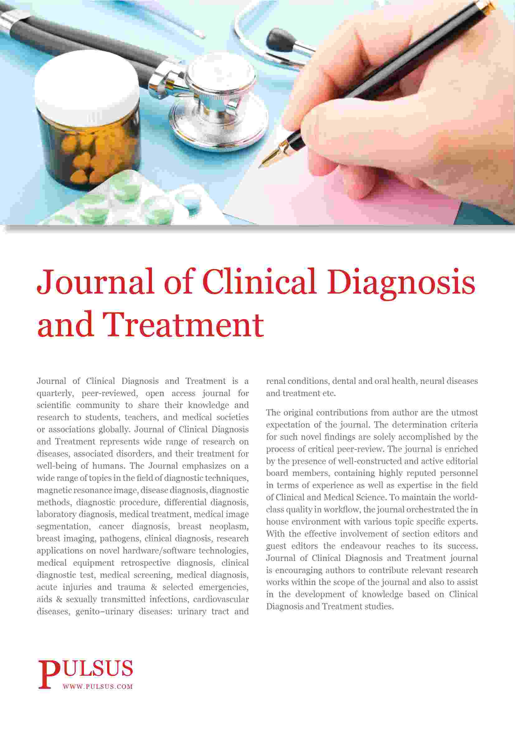 Chronic Diseases 2020 - Journal Of Clinical Diagnosis and Treatment