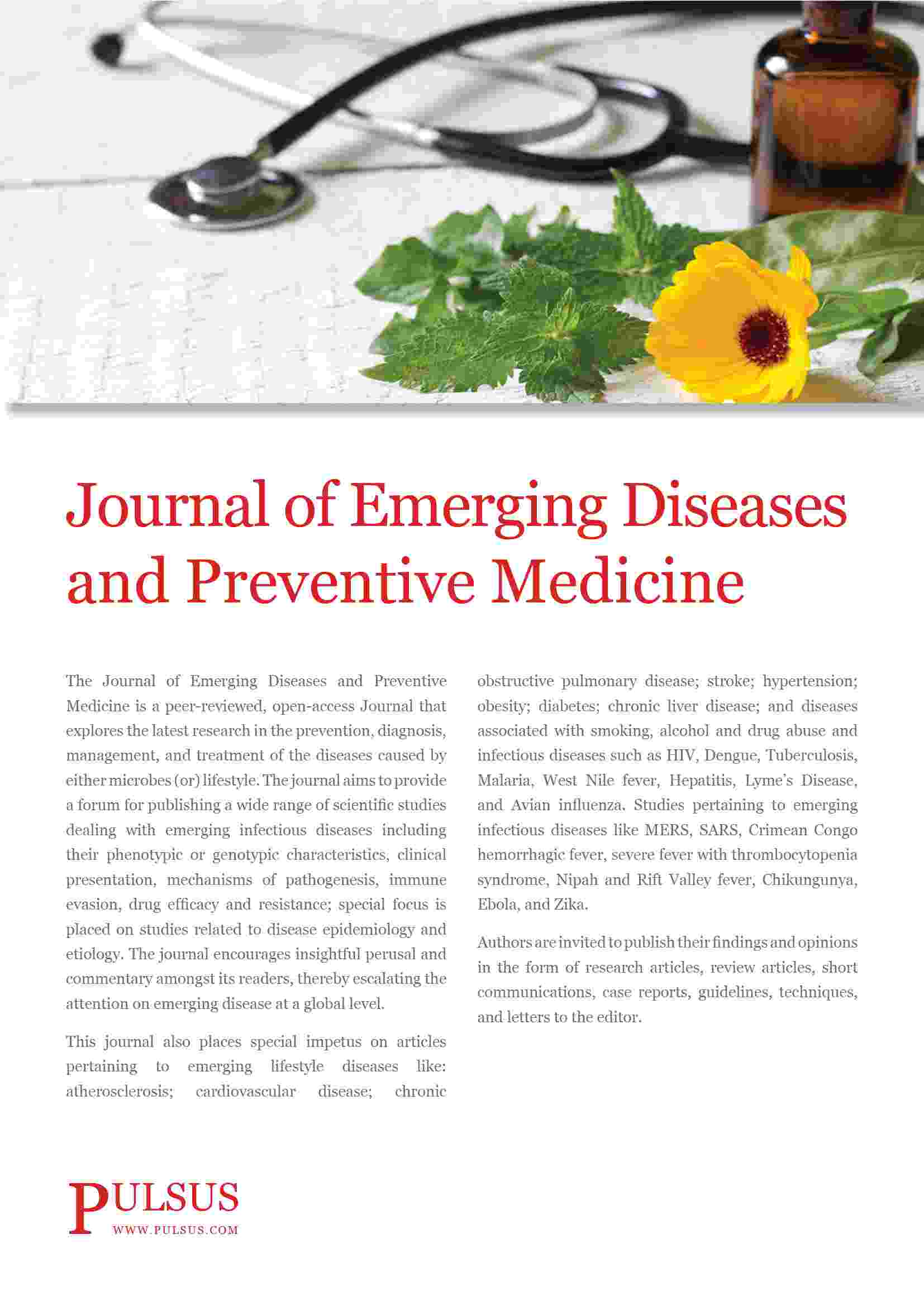 Chronic Diseases 2020- Journal of Emerging Diseases and Preventive Medicine
