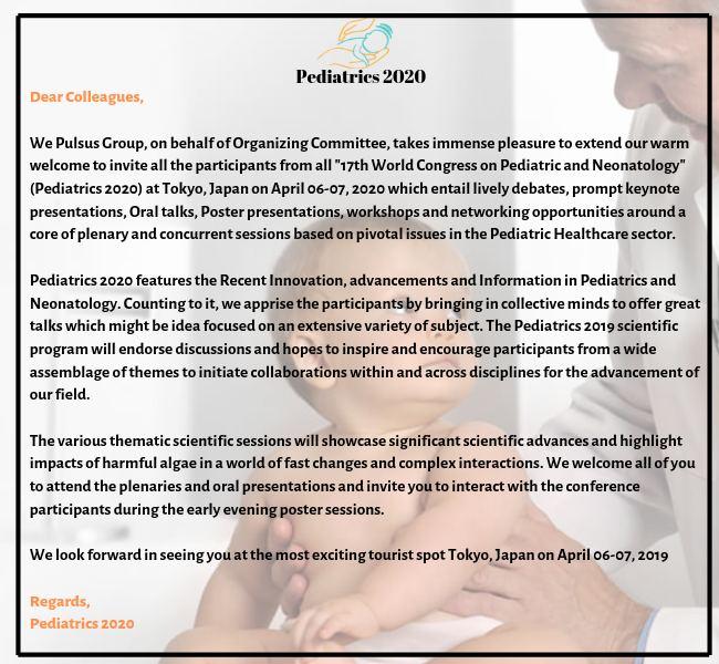 Pediatric Congress | Pediatric Conference | Child health