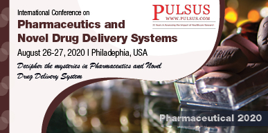 International Conference on Pharmaceutics and  Novel Drug Delivery System,Chicago,USA
