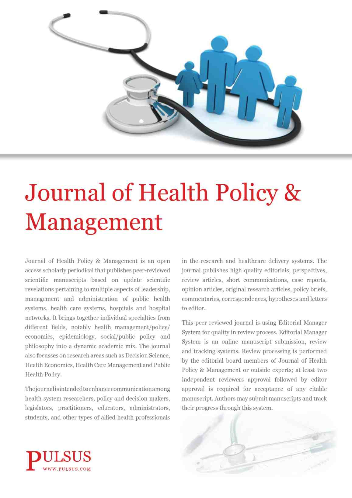 Journal of Health Policy & Management