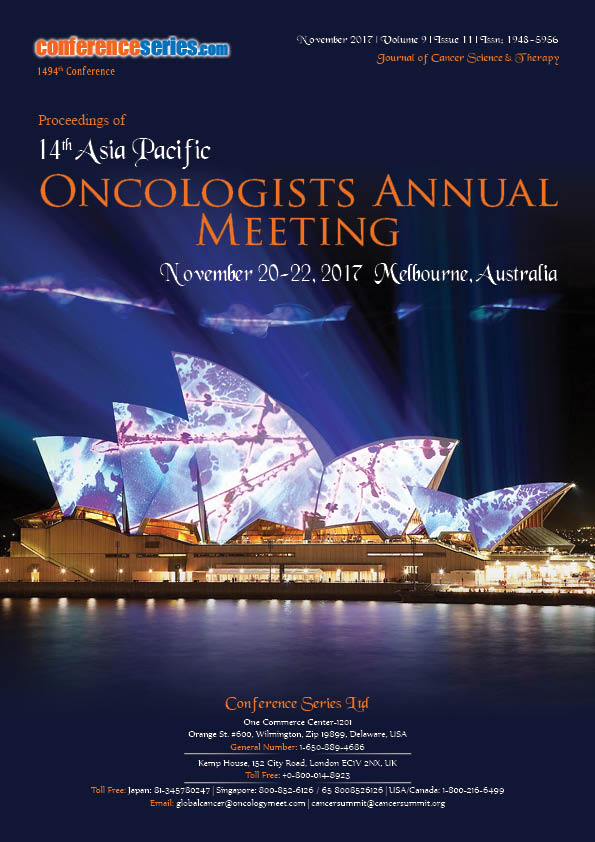 14th Asia Pacific Oncologists Annual Meeting_ Cancer therapy meeting 2018
