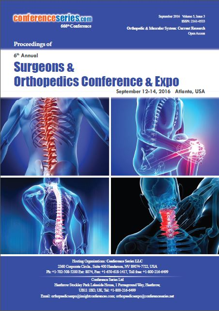 Orthopedics 2016 Conference Proceeding