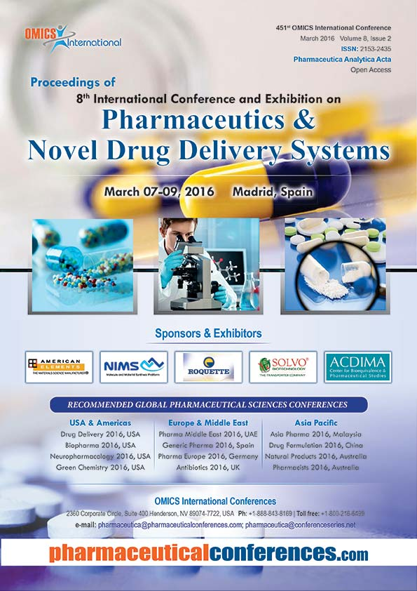 5th International Conference and Exhibition on Pharmaceutics & Novel Drug Delivery Systems