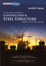 2nd World Congress and Exhibition on Construction & Steel Structure