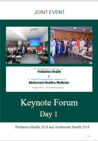 Joint event on pediatric health,Adolescent health and medicine