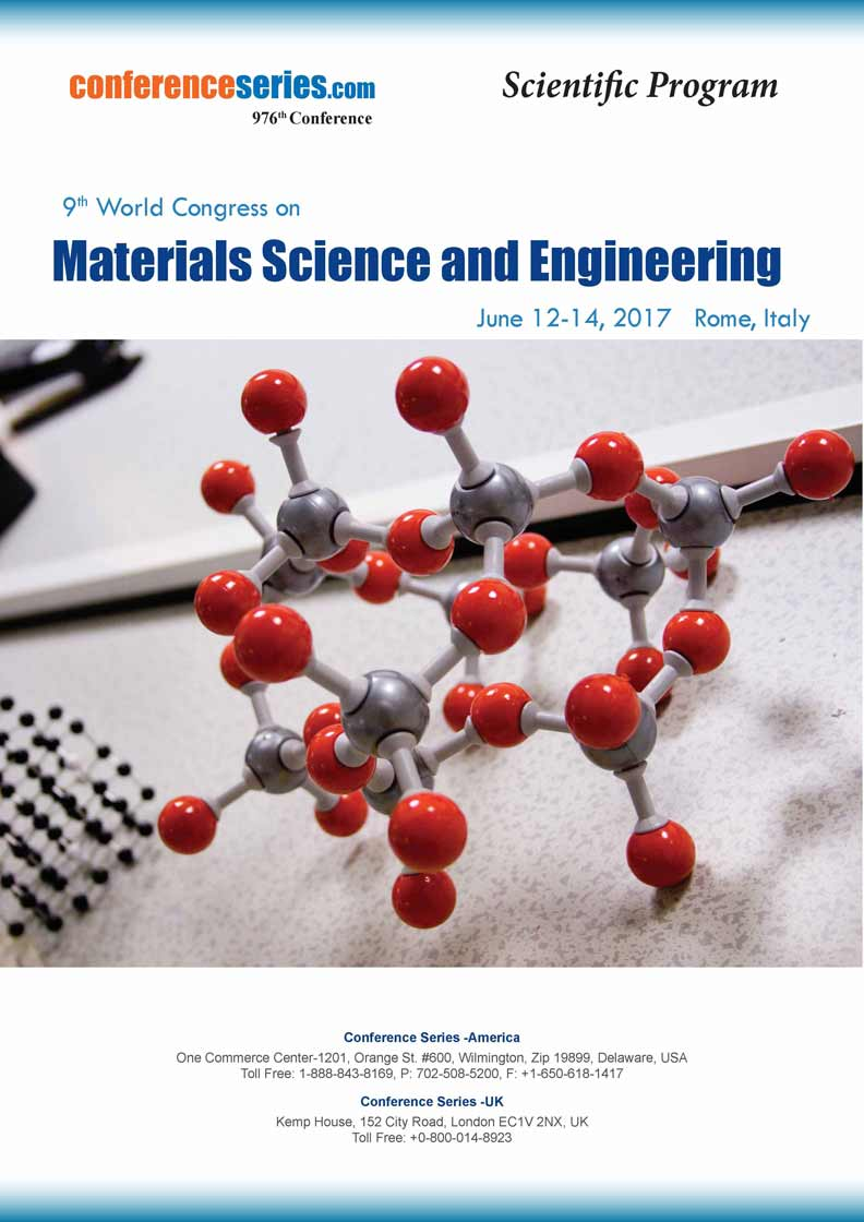 9th World Congress on Materials Science and Engineering