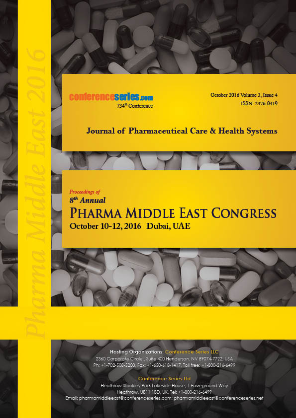 8th Annual Pharma Middle East Congress  | October 10-12, 2016 |  Dubai, UAE
