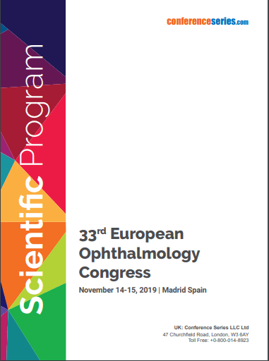 33rd European Ophthalmology Congress November 14 - 15, 2019 Madrid, Spain