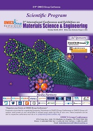 3rd International Conference and Exhibition on Materials Science & Engineering