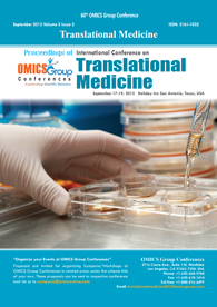 Translational Medicine-2012 Proceedings