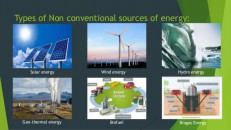 Unconventional Energy Sources