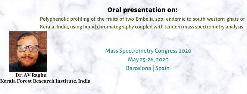 - Mass Spectrometry Congress 2020