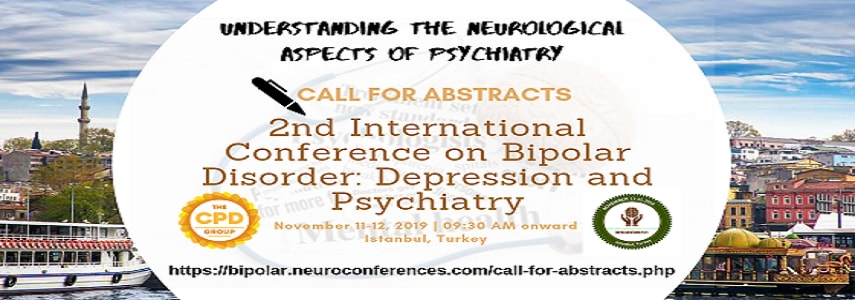 Conference Banner for 2nd International Conference on Bipolar Disorder: Depression and Psychiatry  - Bipolar Neuro 2019