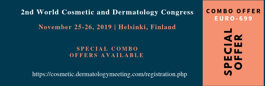 Discounted banner of Dermatology Congress and Cosmetic Care Events - Cosmetic Derma Congress 2019