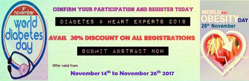 Diabetes Conferences - Diabetes & Heart Experts 2018