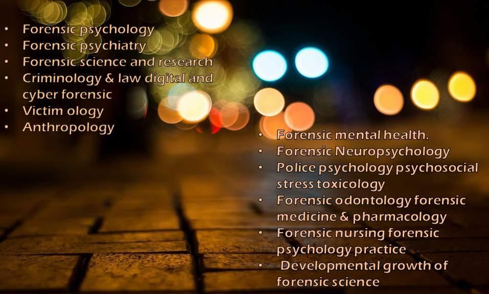 - Forensic Psychology 2018