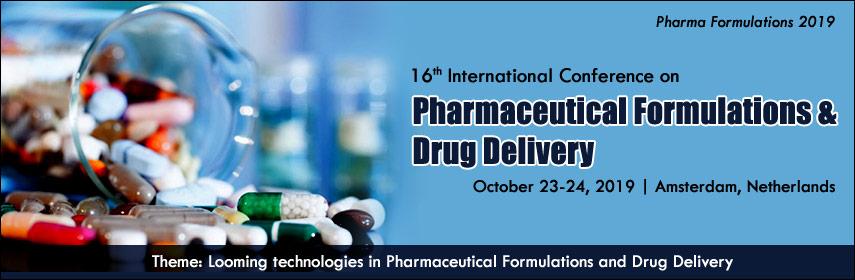 Pharmaceutical Formulations Conferences 2019 | Pharmaceutics