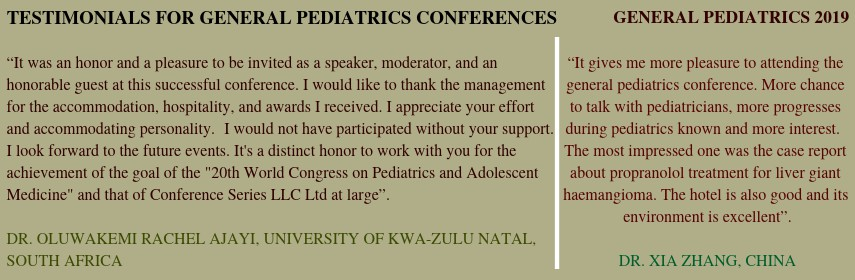 - General Pediatrics and Pediatric Oncology 2019