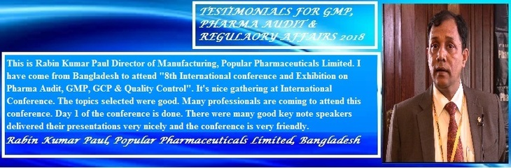- GMP and Pharma Audit 2019