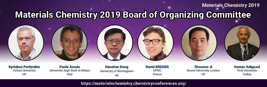 Materials Chemistry 2019 Organizing Committee - Materials Chemistry 2019