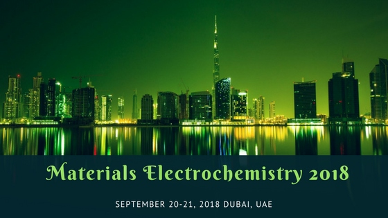Materials Electrochemistry Conference: Advancements and Breakthroughs , Dubai,UAE
