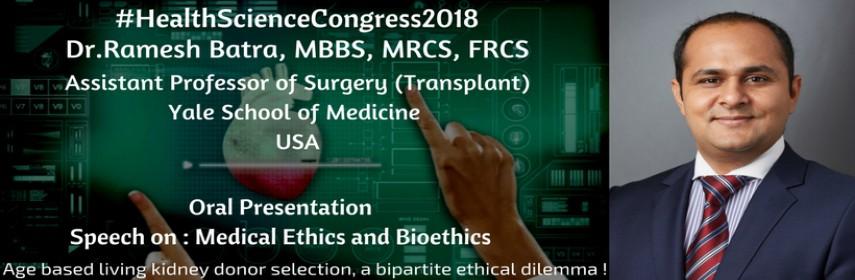 - Health Science Congress 2018