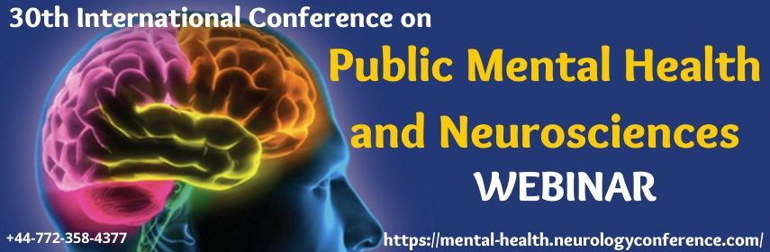 Homepage Banner of 30th International Conference on  Public Mental Health and Neurosciences - World Mental Health 2020