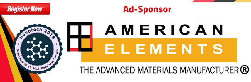 American Elements, global manufacturer of high purity metal, nanopowders, graphene, semiconductor fo - Nanotech 2018