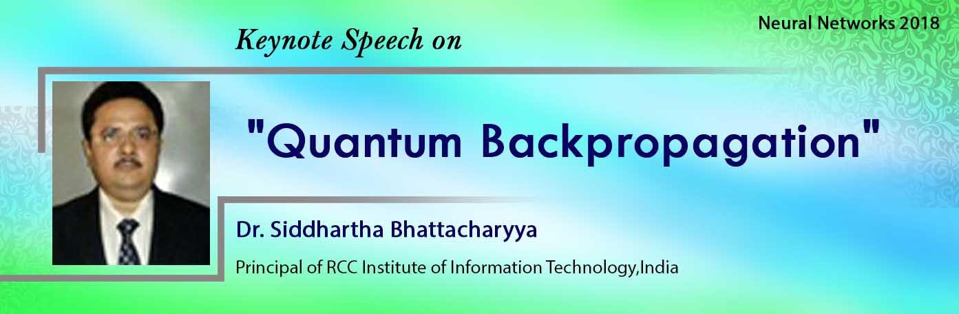 Keynote Banner of Dr. Siddhartha Bhattacharyya  - Neural Networks 2018