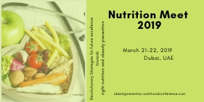 2nd World Congress on Nutrition and Obesity Prevention , Dubai,UAE