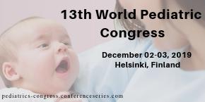 13th  World Pediatric Congress , Helsinki,Finland