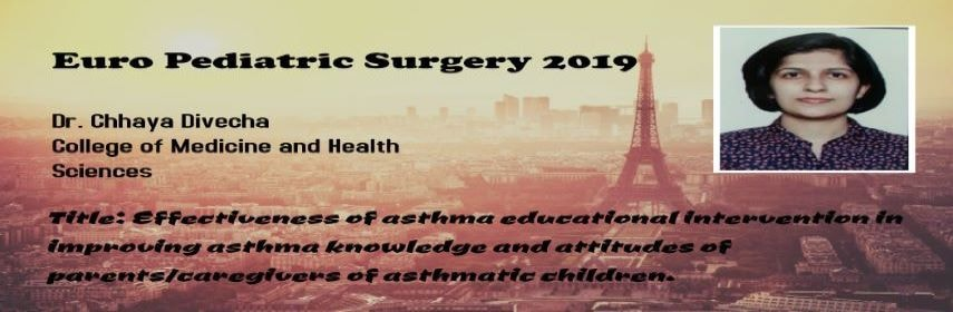 Euro pediatrics surgery welcomes you to Paris,France during May 13-14 to offer global exposure in pe - Euro Pediatric Surgery 2019