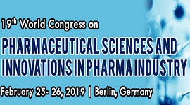 19th World Congress on Pharmaceutical Sciences and Innovations in Pharma Industry, Berlin, Germany