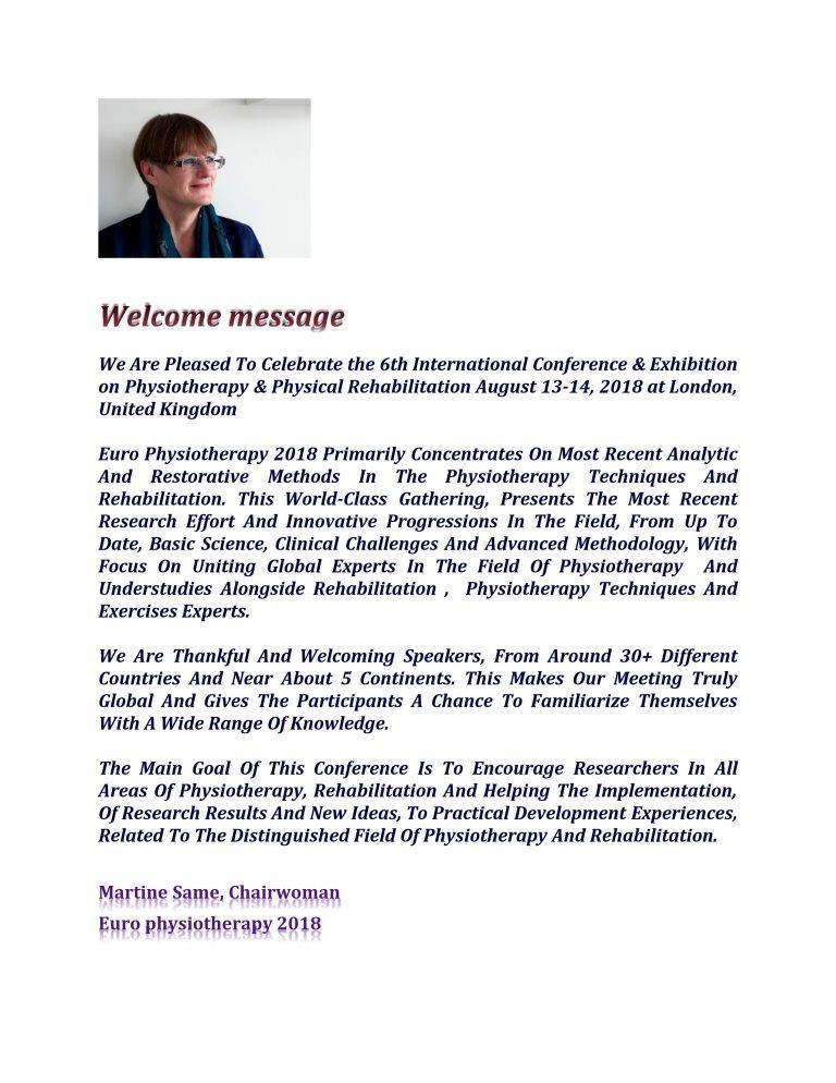 Physiotherapy conference 2018   Physiotherapy conferences 2018