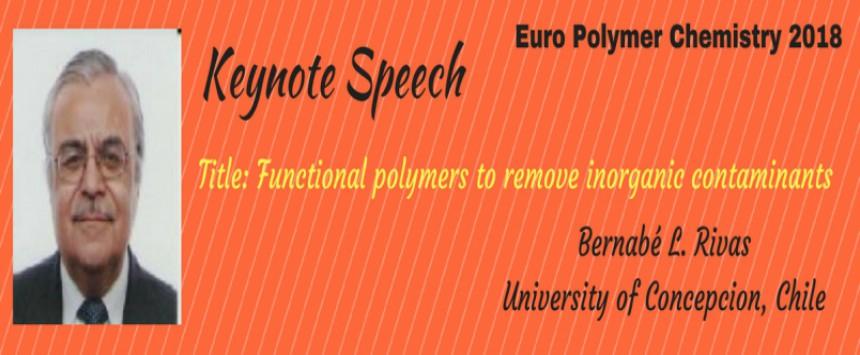 - Euro Polymer Chemistry 2018