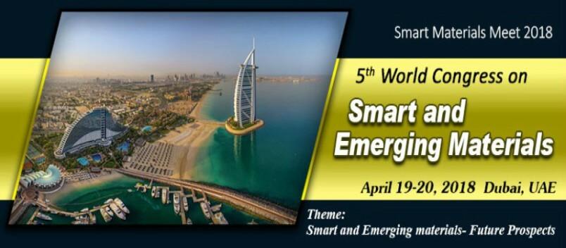 Top 5 keynote speakers of Smart Materials Meet 2018 - Smart Materials Meet 2018