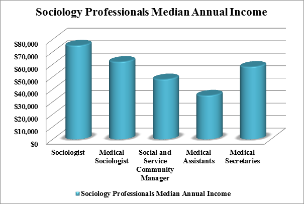Perfect ... Degrees Concentrations And Majors In The Field Of Medical Sociology.  Sociology Degree Holders Earns At Different Levels Are Explained The Figure.